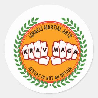 Krav Maga - Defeat is not an option Classic Round Sticker