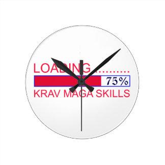 Krav Maga Designs Round Clock