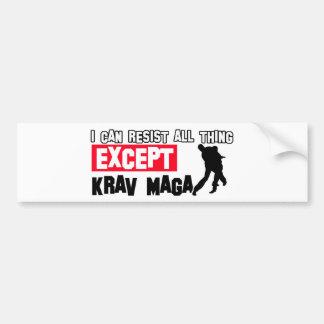 krav maga martial design bumper sticker