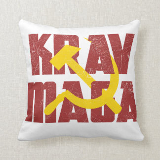 Krav Maga Russia Soviet Union Throw Pillow