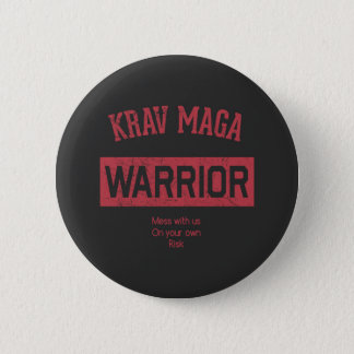 Krav Maga Warrior 2 Inch Round Button