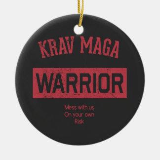 Krav Maga Warrior Ceramic Ornament