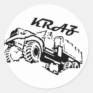 Kraz - The Soviet Russian Truck Round Sticker