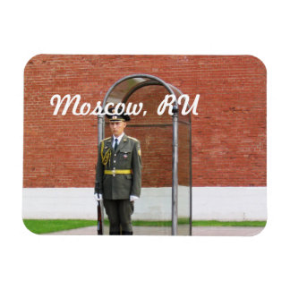 Kremlin Guard Rectangular Photo Magnet