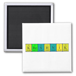Kreshnik periodic table name magnet