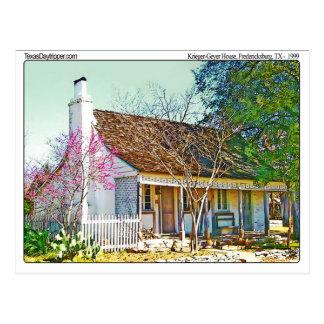 Krieger Geyer Home, Fredericksburg, TX Postcard