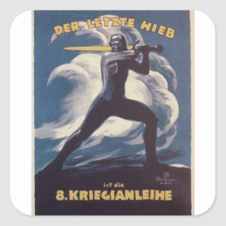 Kriegianleihe Propaganda Poster Square Sticker