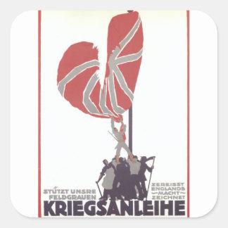 Kriegsanleihe Propaganda Poster Square Sticker