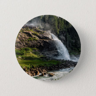 krimml waterfall, Austria 2 Inch Round Button