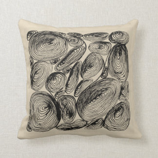 Kringel abstractly shell of stones throw pillow