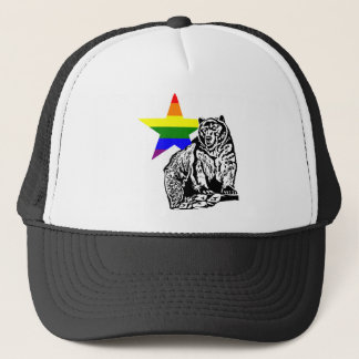 Kris Alan grizzly bear Rainbow Trucker Hat