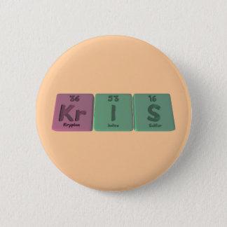 Kris as Krypton Iodine Sulfur 2 Inch Round Button