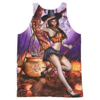 Kris E. Pew ~Pumpkin Princess~ All-Over-Print Tank Top