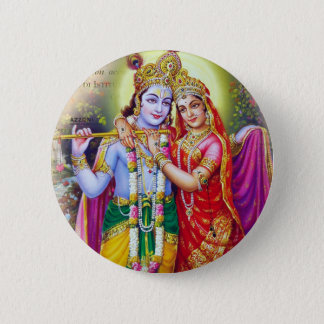 Krishna 2 Inch Round Button