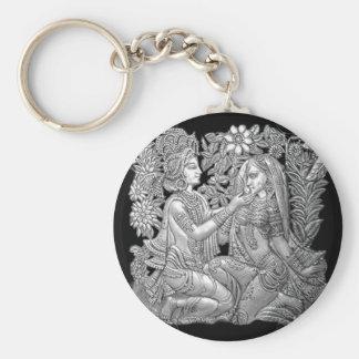 Krishna and Radha Keychain
