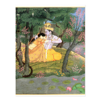 Krishna and Radha Postcard