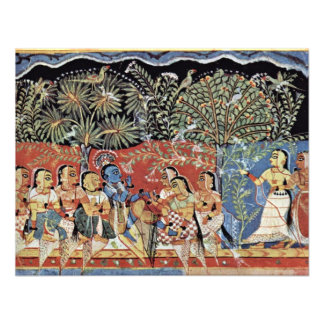 Krishna And The Gopas Forest By Westindischer Male Personalized Announcements
