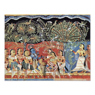 Krishna And The Gopas Forest By Westindischer Male Personalized Announcement
