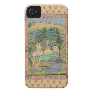 Krishna and the Gopis (gouache on paper) iPhone 4 Case-Mate Case