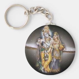 Krishna Basic Round Button Keychain