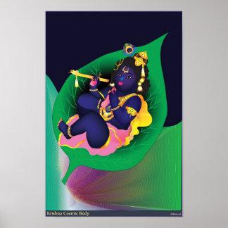 Krishna Cosmic Body Poster