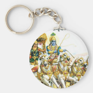 KRISHNA IN MAHABHARAT BASIC ROUND BUTTON KEYCHAIN