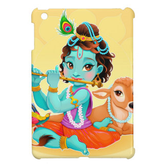 Krishna Indian God playing flute illustration iPad Mini Cases