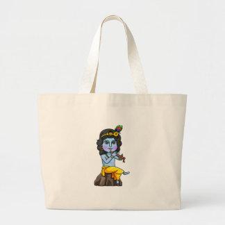 Krishna Large Tote Bag