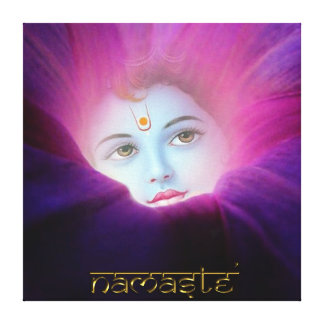 Krishna Morning Glory Namaste Stretched Canvas Pri