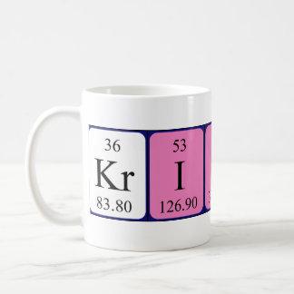 Krishna periodic table name mug