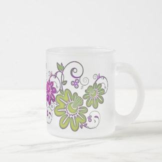 Krishna Rising Frosted Glass Coffee Mug