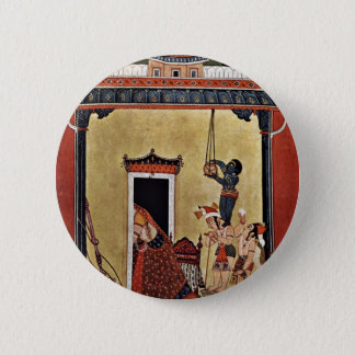 Krishna Steals Milk By Indischer Maler Um 1750  (B 2 Inch Round Button