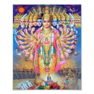 "Krishna Vishvarupa Print (8"" x 10"")"