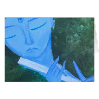 Krishna with Flute Card