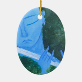 Krishna with Flute Ceramic Ornament