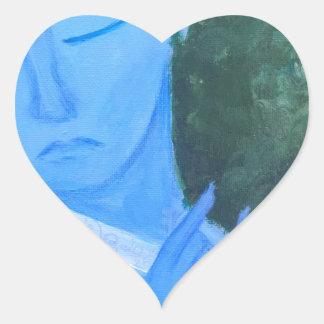 Krishna with Flute Heart Sticker