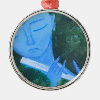 Krishna with Flute Metal Ornament