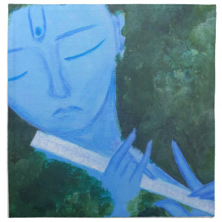 Krishna with Flute Napkin