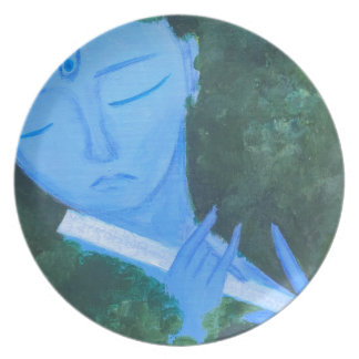 Krishna with Flute Plate