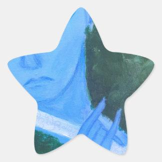 Krishna with Flute Star Sticker