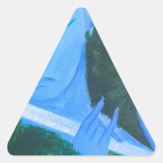 Krishna with Flute Triangle Sticker