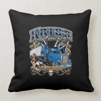 kriss trucking throw pillow