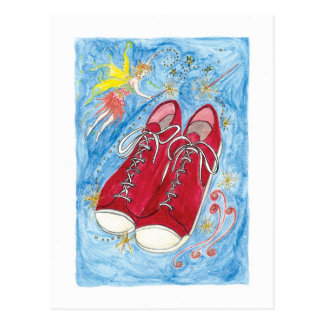 Krista-Link-a-La and the Size 13 Shoes Postcard