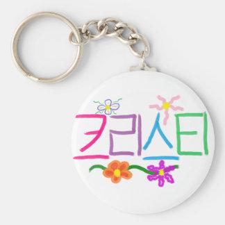 Kristi / Christie / Christy / Kristy Basic Round Button Keychain