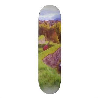 Kristiansten Fortress view  oil paint Skateboards