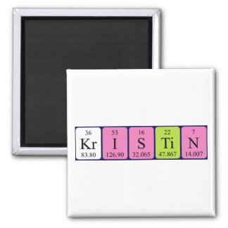 Kristin periodic table name magnet