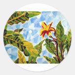 Kristin's Hawaii Art Round Sticker