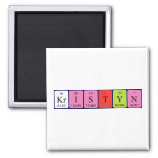 Kristyn periodic table name magnet