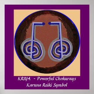 KRIYA -  Karuna Reiki Healing Symbol Poster