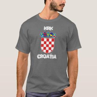 Krk, Croatia with coat of arms T-Shirt